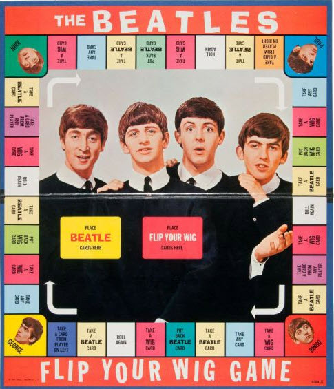 """The Beatles board game, """"Flip your Wig"""""""