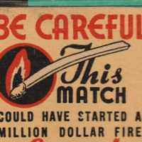 Be careful with this match matchbook