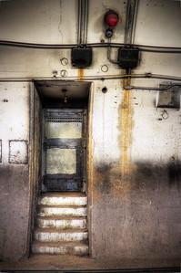 Grungy doorway