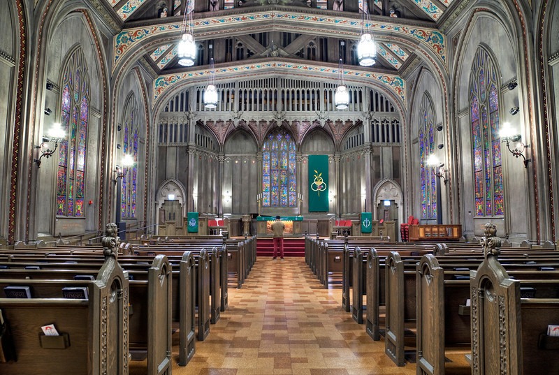 Chicago Temple - praying for warmth