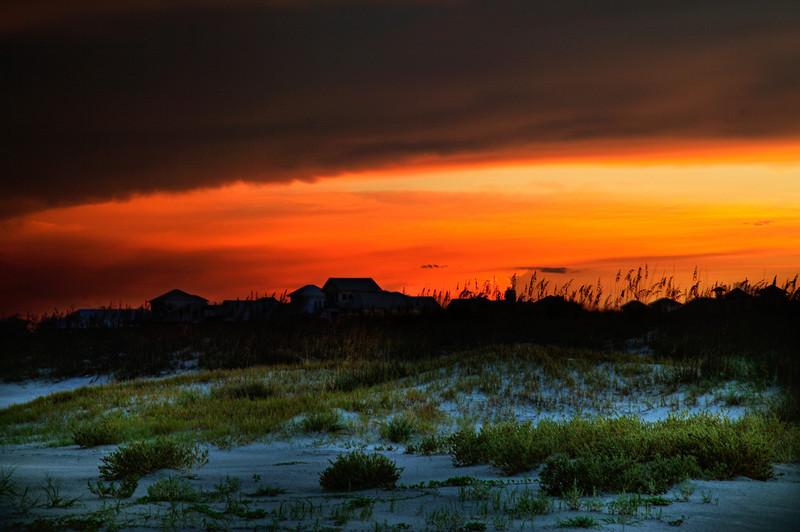 Sunset beach houses
