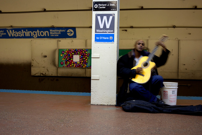 The blue line guitarist