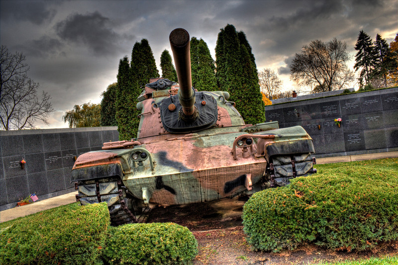 A tank in the graveyard