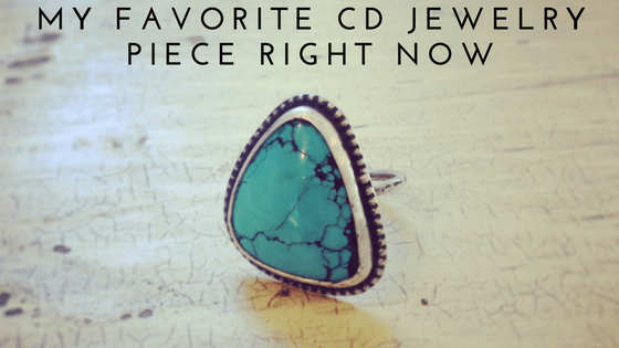 cd jewelry turquoise ring