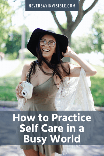 How to fit #selfcare into an already busy life. Strategies for including it as part of your day-to-day and #tips for making the changes stick. #stress #chronicillness #spoonie #anxiety | neversayinvisible.com