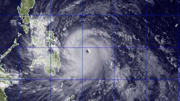 Typhoon Haiyan satellite image