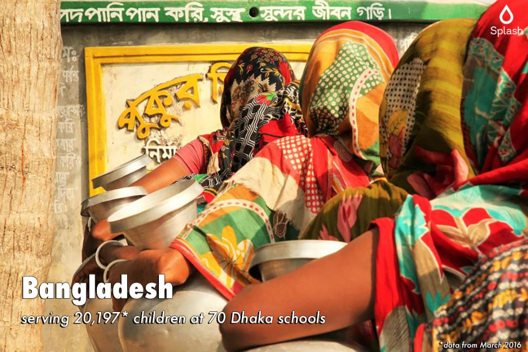 Splash serving 20,197 children at 70 Dhaka schools in Bangladesh