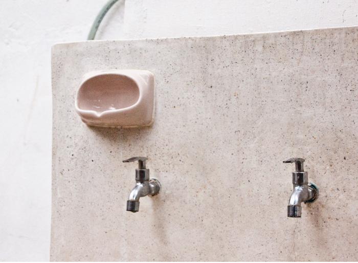 Soap holder at CASC