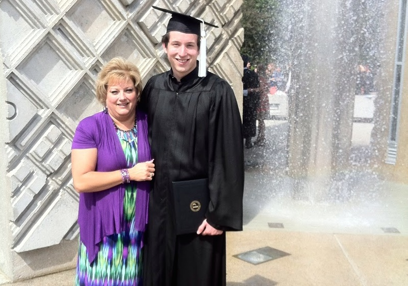 Jeremy and mom at Purdue graduation