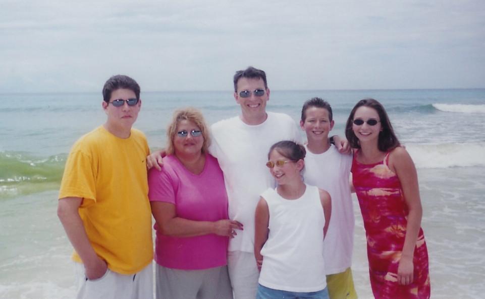 Pittman family at beach