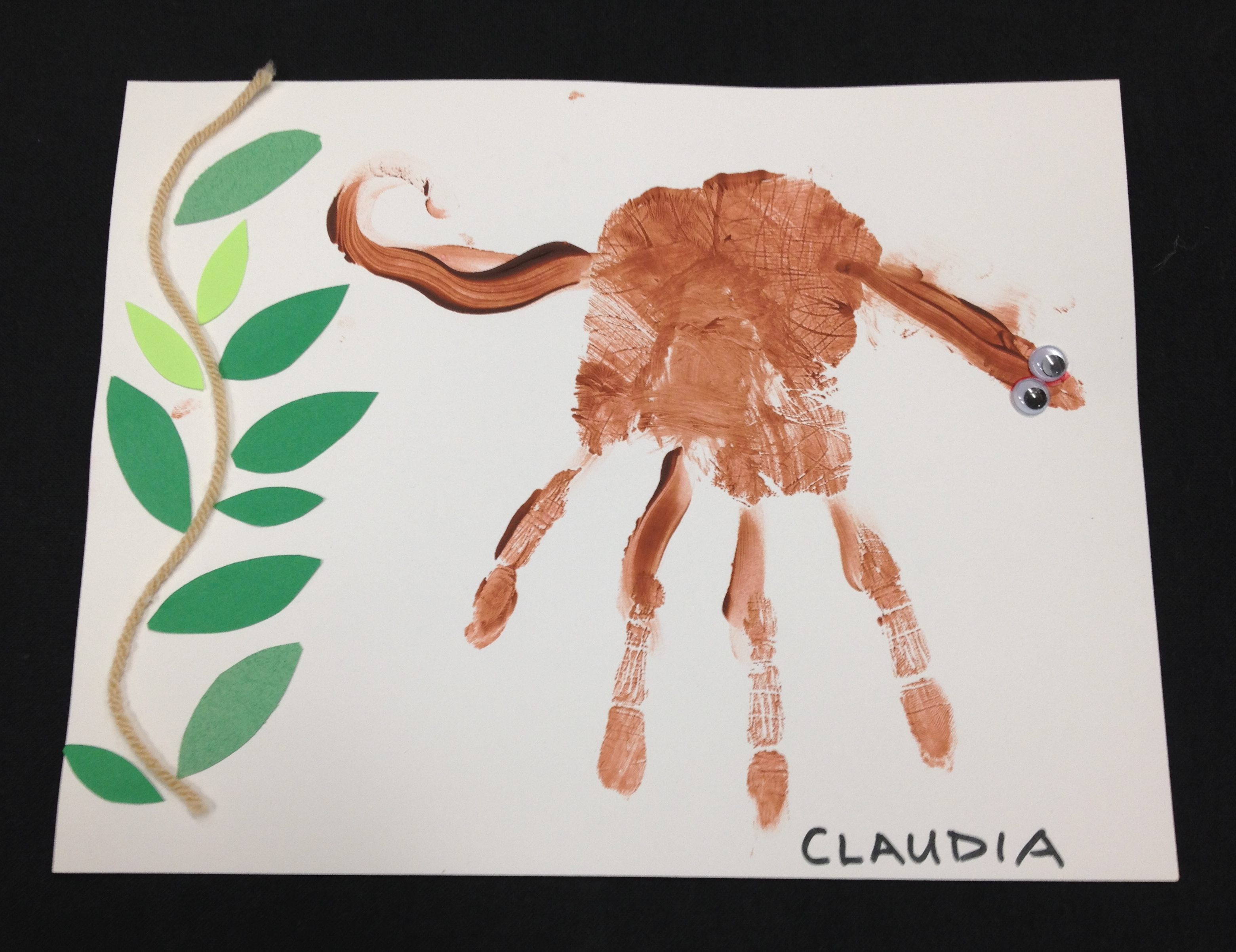 Appealing Handprint Monkey Craft Images