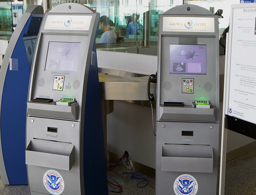 Global Entry kiosks at the airport
