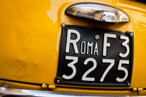 an old Roman car - renting any car in Europe