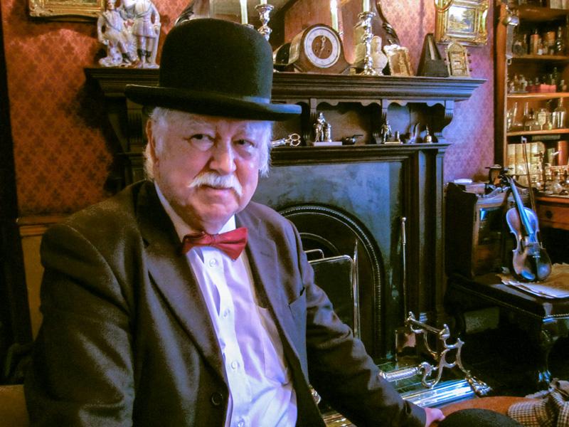 Dr Watson in The Sherlock Holmes Museum in London