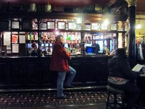 man in a bar