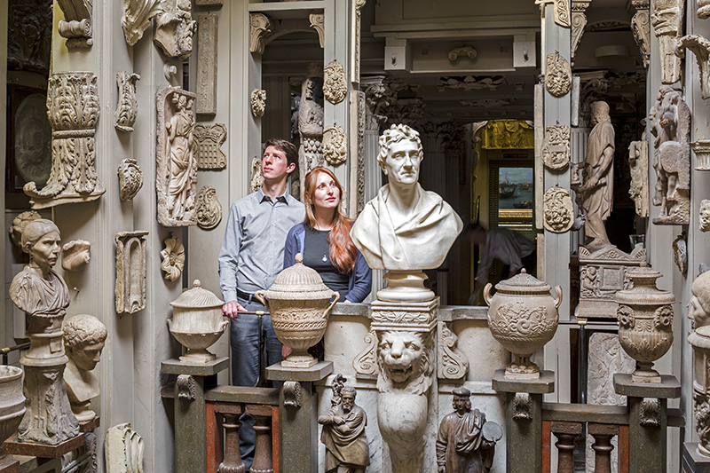 people in the Sir John soane museum