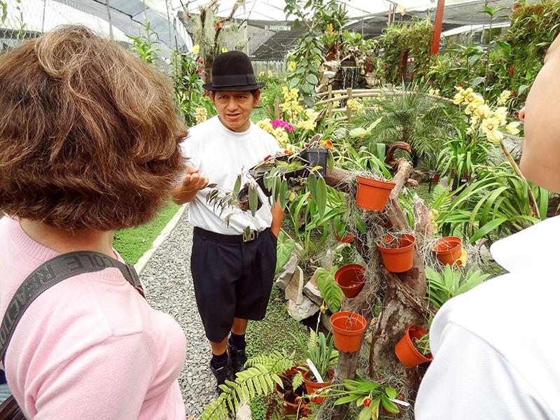 people in an orchid farm in cuenca ecuador Gualaceo Valley