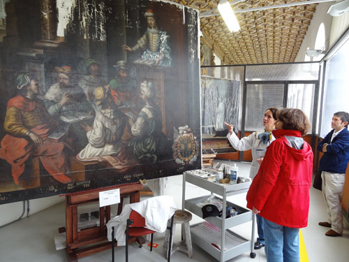 Painting restorations at St. Augustine Monastery, Quito, Ecuador