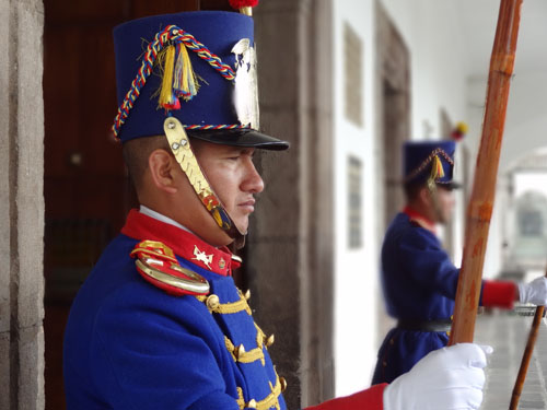 Guards at the Presidential Palace, Quito, Ecuador