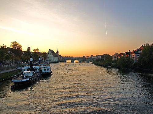 The Danube and the Stone Bridge Regensburg