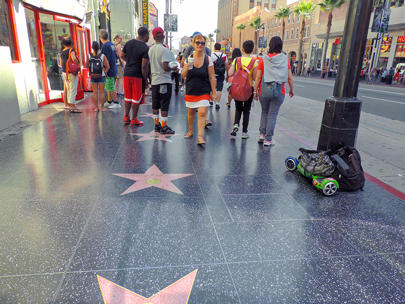 Hollywood Boulevard seen on Hollywood tours