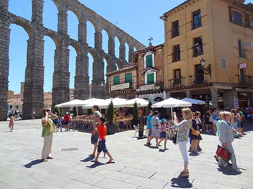 a roman aqueduct