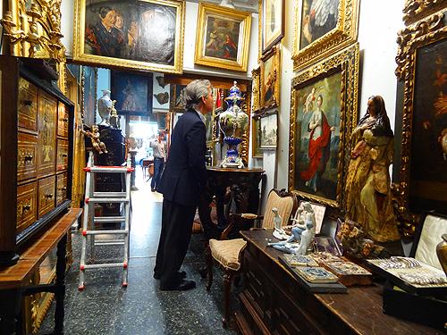 an antique shop