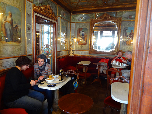 A side room along the square in Caffè Florian
