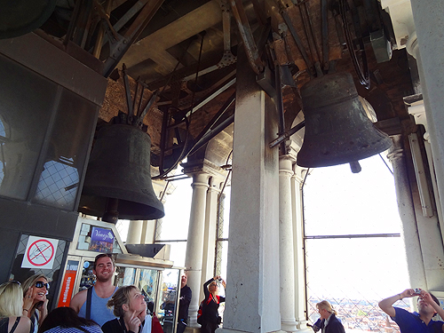 Bells pealing on the hour in the Campanile