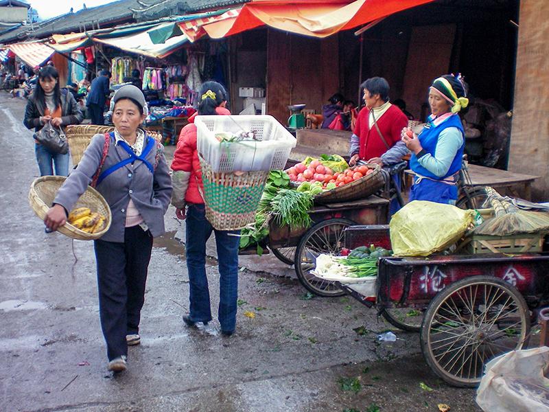 market in Lijang
