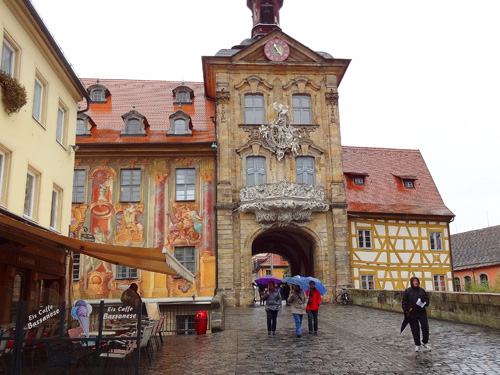 people visiting the old city hall, one of the things to do in Bamberg, Germany