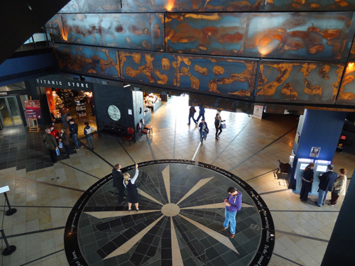 The atrium in Titanic Belfast Titanic Museum