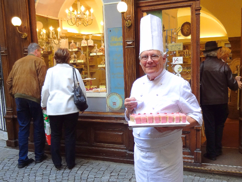 Chef Erich Winkler, met on my private tour of Salzburg