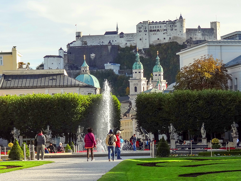 Mirabelle Gardens, seen on a private tour of Salzburg
