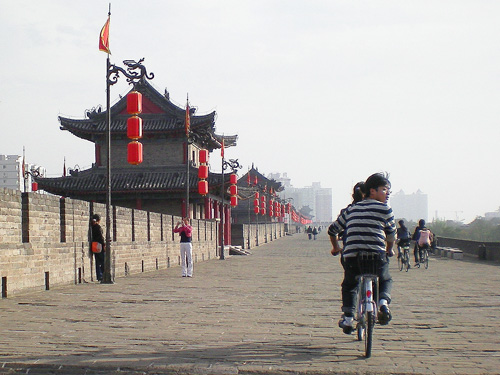 city walls in Xian, China