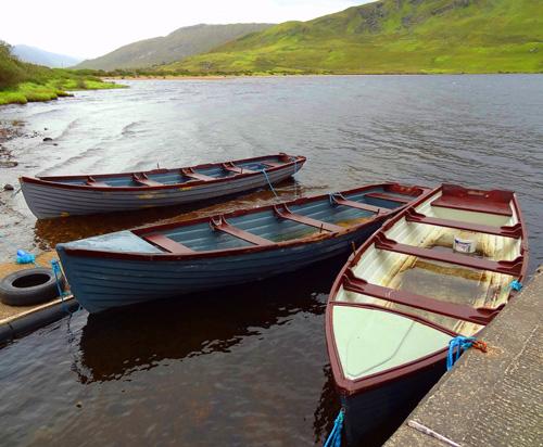 Rowboats on a Connemara Lake - Connemara Country Lodge