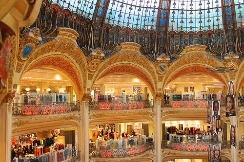 Galeries Lafayette, Paris / photo: Eleanor W. off-season Europe