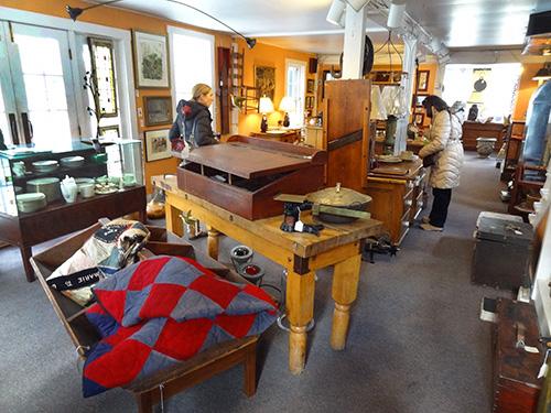 An antique shop in Woodstock