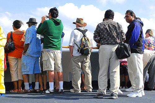 a group of people on a family reunion cruise
