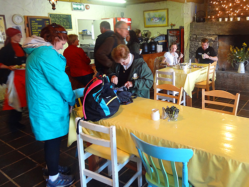 Late morning breakfast at the cafe in Kilmurvey