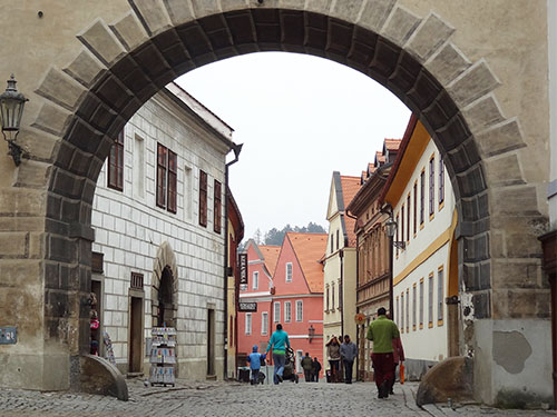 Street in the old town of Cesky Krumlov