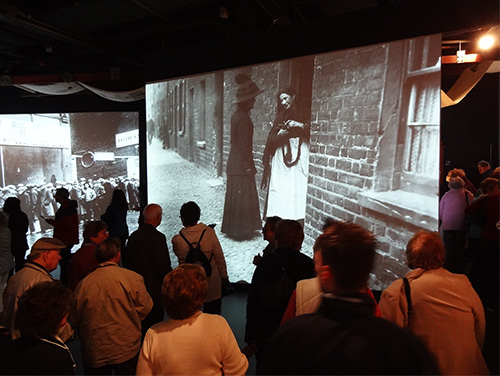a crowd visiting the Titanic Belfast Museum, one of the best things to do in Belfast