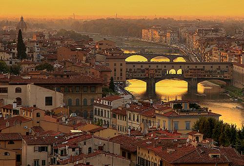 Florence at sunset / photo: stevehdc Florence Restaurants - restaurants in Florence