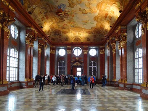 Marble Hall and its faux ceiling
