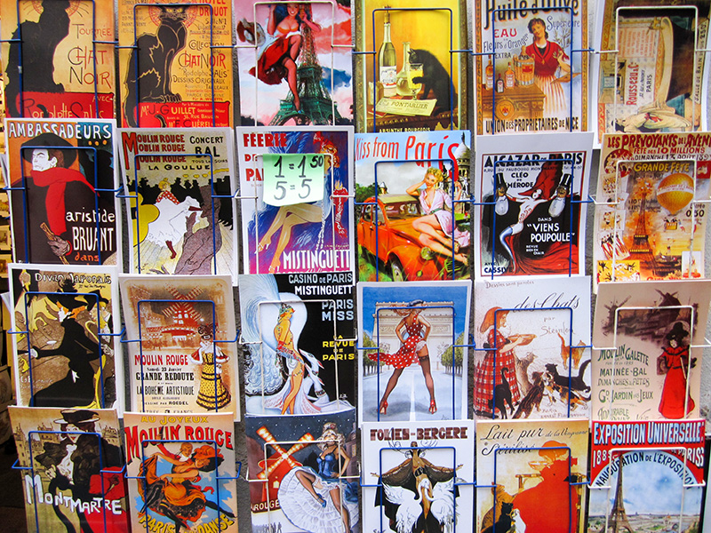 colorful postards on rack - Ile Saint-Louis