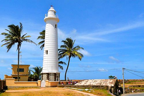 Light house in Galle Fort in Sri Lanka
