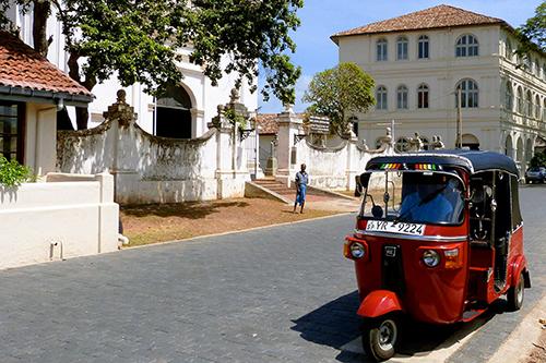 Tuk-Tuk Inside Galle fort in Sri Lanka