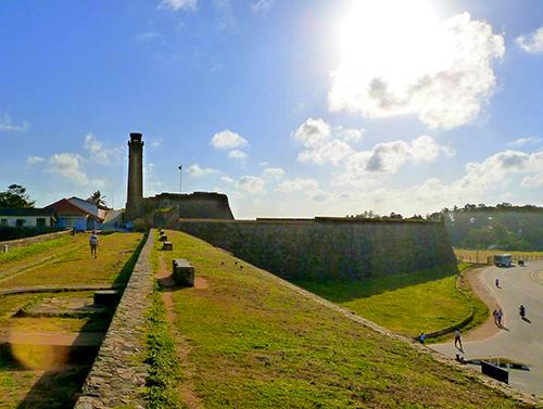 Galle Fort wall in Sri Lanka