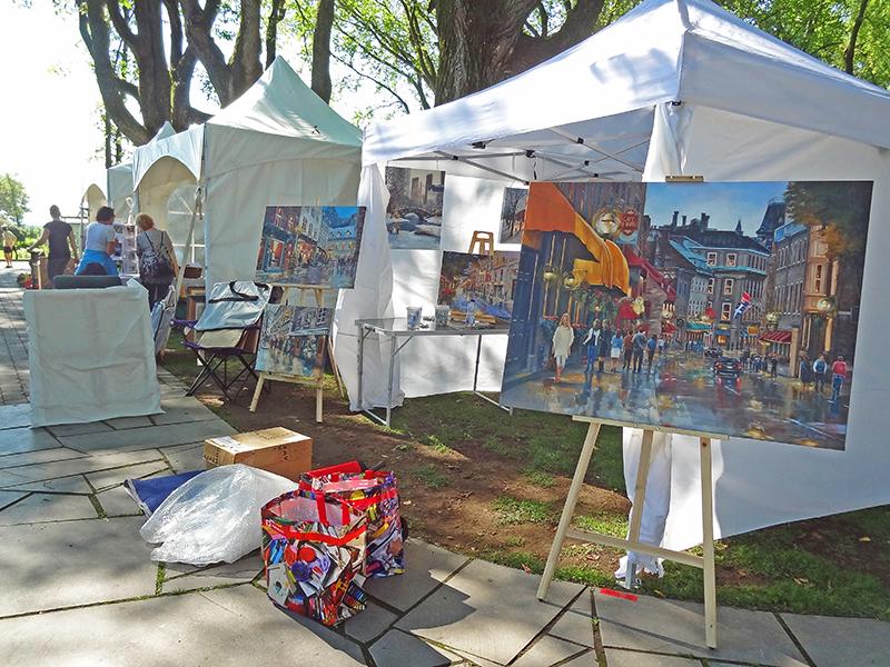 An art show in a park