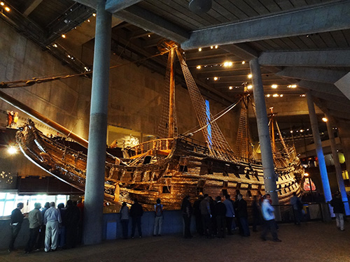 The main hall of the Vasa Museum, Stockholm